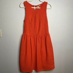 BORDEAUX Medium Orange Dress Knee Length